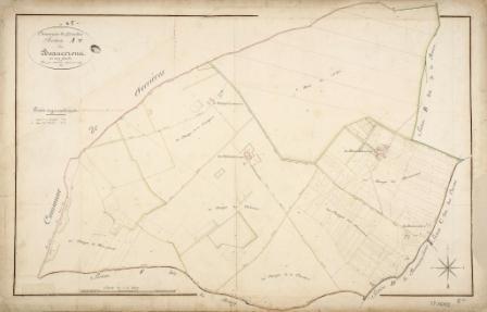 Cadastre de Griselles de 1832 - Section A -  Les Beaucerons