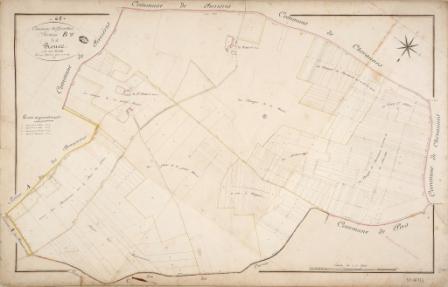 Cadastre de Griselles de 1832 - Section B -  La Ronce