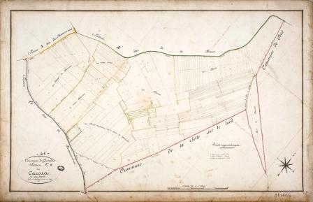 Cadastre de Griselles de 1832 - Section C -  Les Carcas