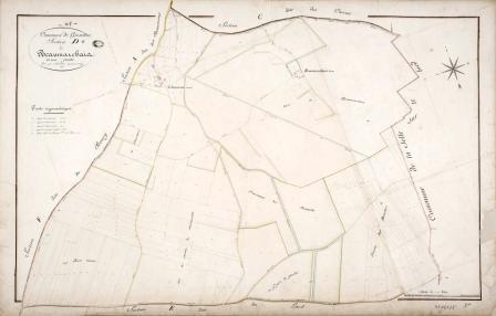 Cadastre de Griselles de 1832 - Section D - Beaumarchais