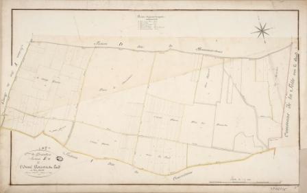 Cadastre de Griselles de 1832 - Section E - L`Orme Florin