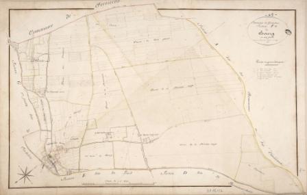 Cadastre de Griselles de 1832 - Section F - Le Bourg