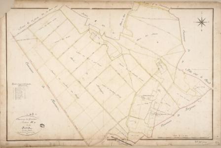 Cadastre de Griselles de 1832 - Section H - Forêt