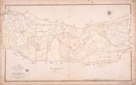 Cadastre de Griselles de 1832 - Section I - Courvilaine