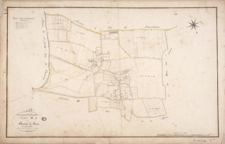 Cadastre de Griselles de 1832 - Section K - Bois le Roi