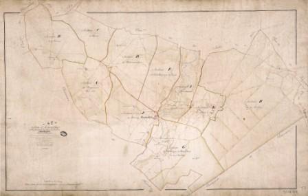 Cadastre de Griselles de 1832 - Tableau d`assemblage