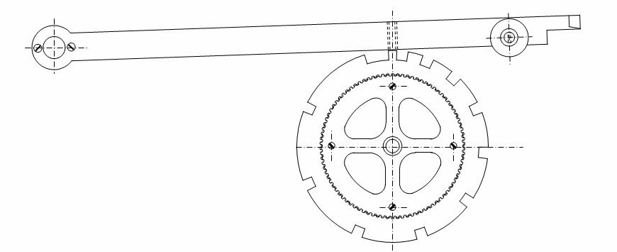 Levier sur roue de compte de l'horloge de Griselles