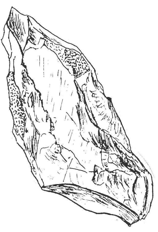 Rabot en pierre taillée
