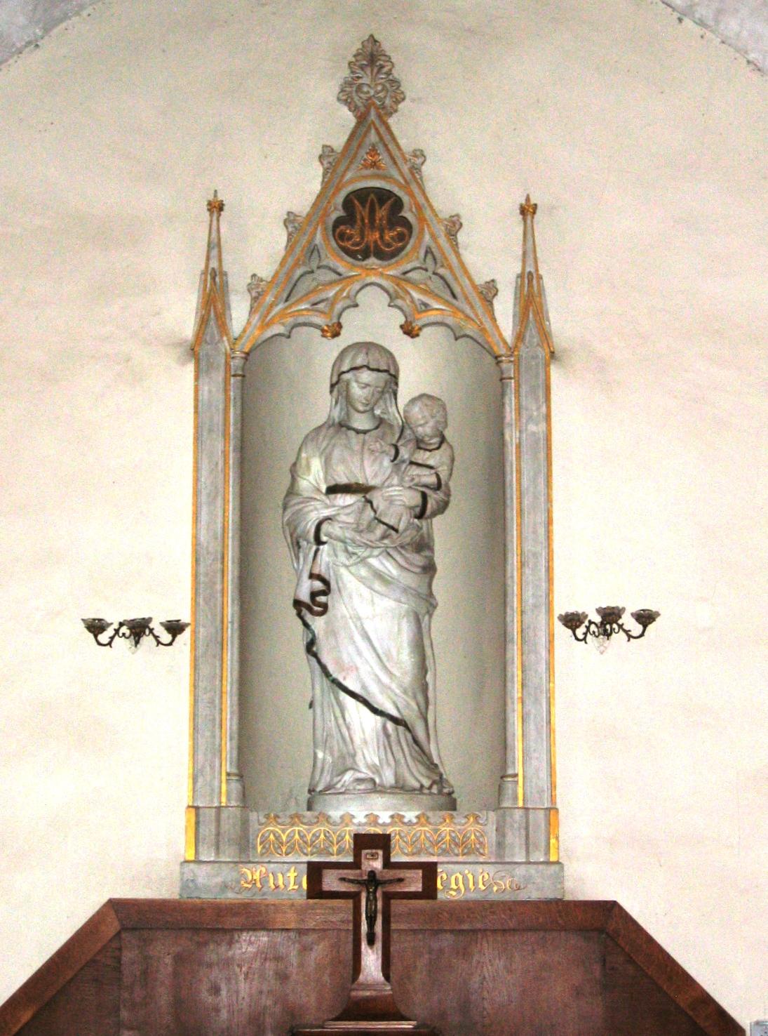Statue de la Sainte Vierge - église de Griselles