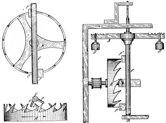 Schéma de principe d'un foliot